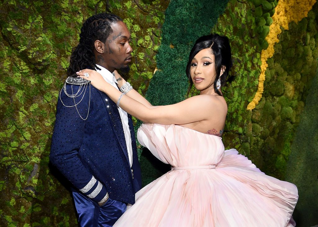 Rappers Cardi B and Offset attending Rihanna's 5th Annual Diamond Ball at Cipriani Wall Street on September 12, 2019 in New York City | Photo: Getty Images