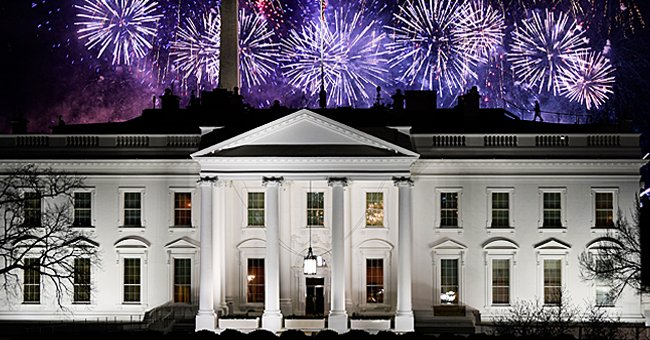 Fireworks are seen above the White House at the end of the Inauguration day for US President Joe Biden in Washington, DC, on January 20, 2021.   Photo: Getty Images