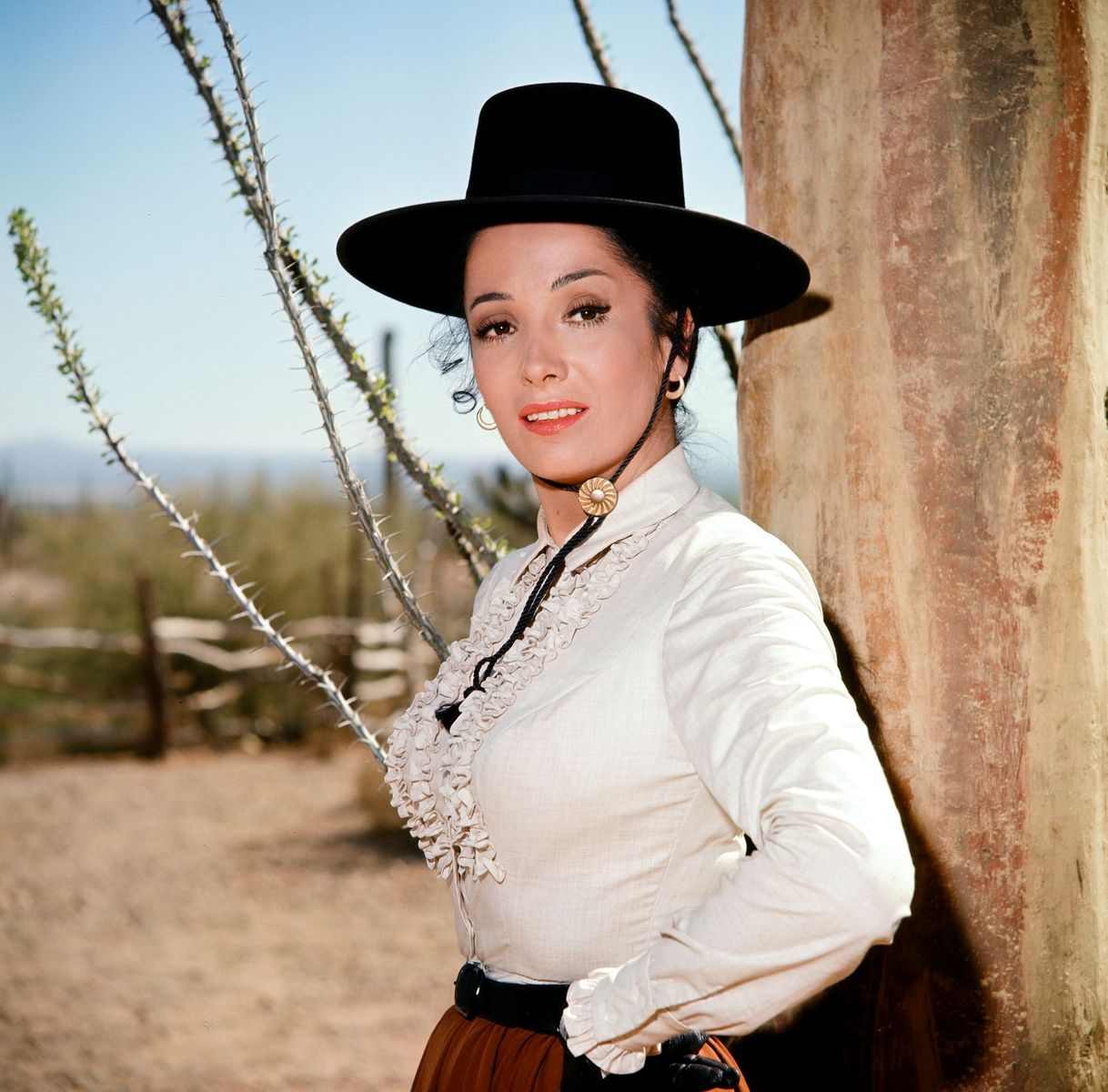 """Linda Cristal as Victoria Montoya Cannon in """"The High Chaparral"""" 