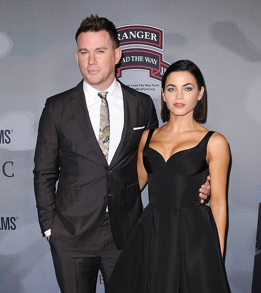"""Channing Tatum and Jenna Dewan Tatum at the premiere of """"War Dog: A Soldier's Best Friend"""" in Los Angeles, California.