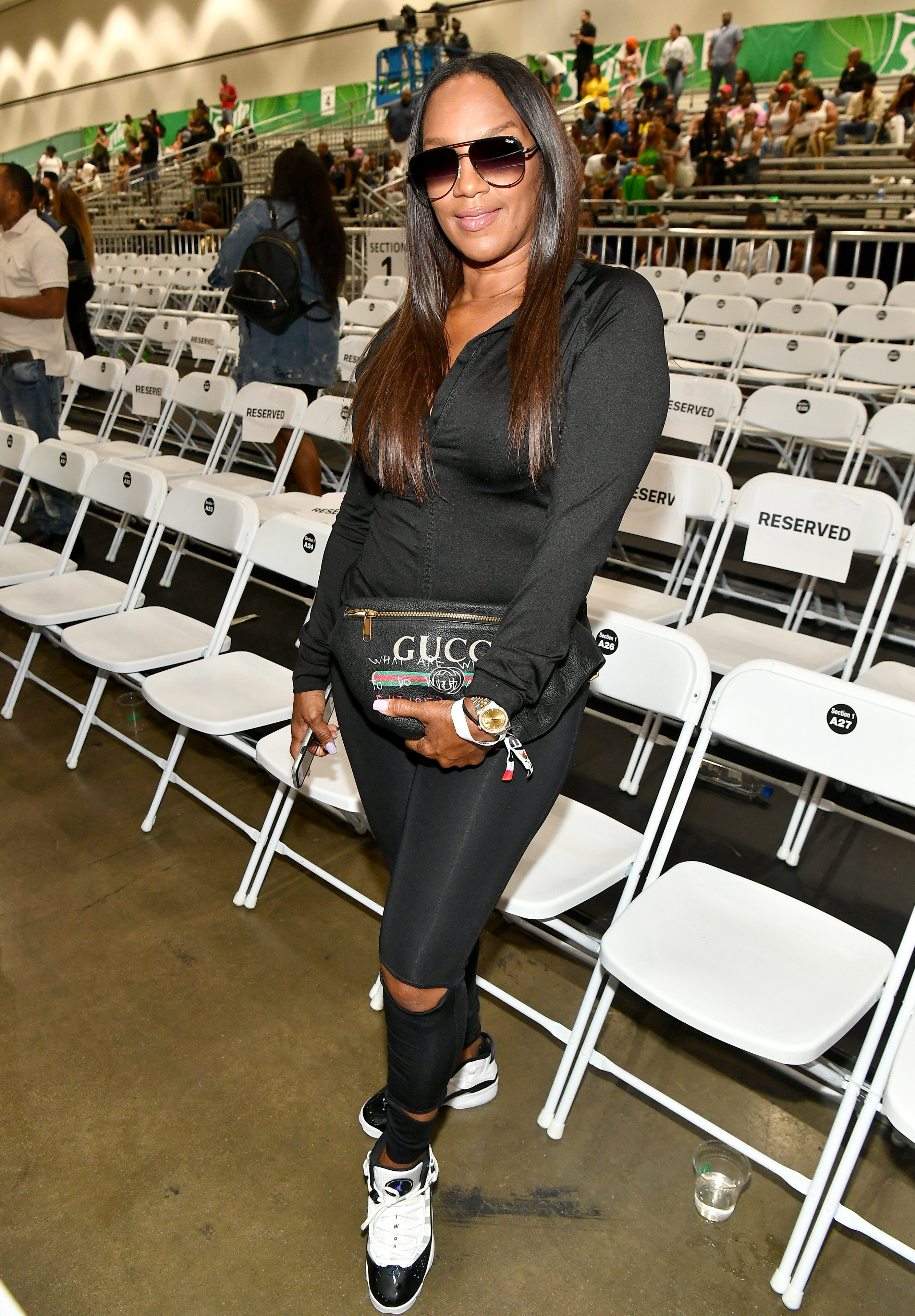 Jackie Christie at the Celebrity Basketball Game during the BET Experience on June 23, 2018 in California | Photo: Getty Images