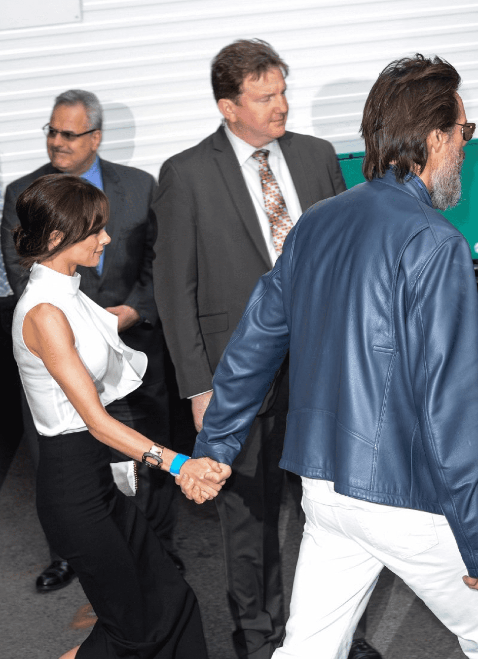 Jim Carrey und Cathriona White am 20. Mai 2015 in New York.   Quelle: Getty Images