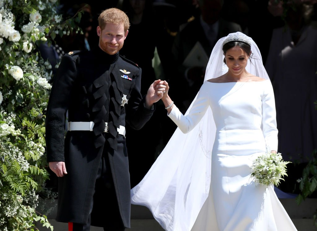 Prince Harry and Meghan Markle depart after their wedding ceremony at St George's Chapel at Windsor Castle on May 19, 2018 | Photo: Getty Images