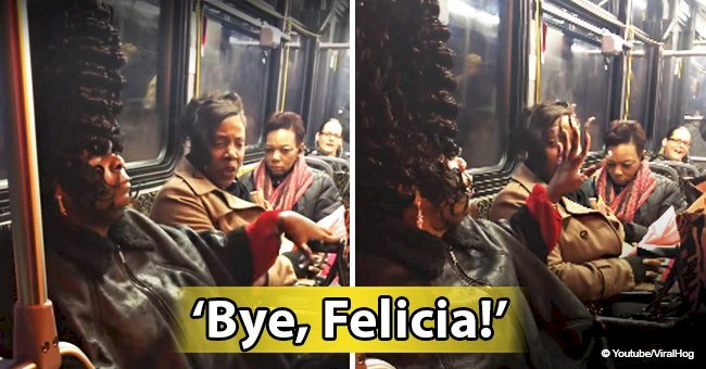 'Bye, Felicia!' Woman with bizarre hairstyle gets into bus argument defending her look