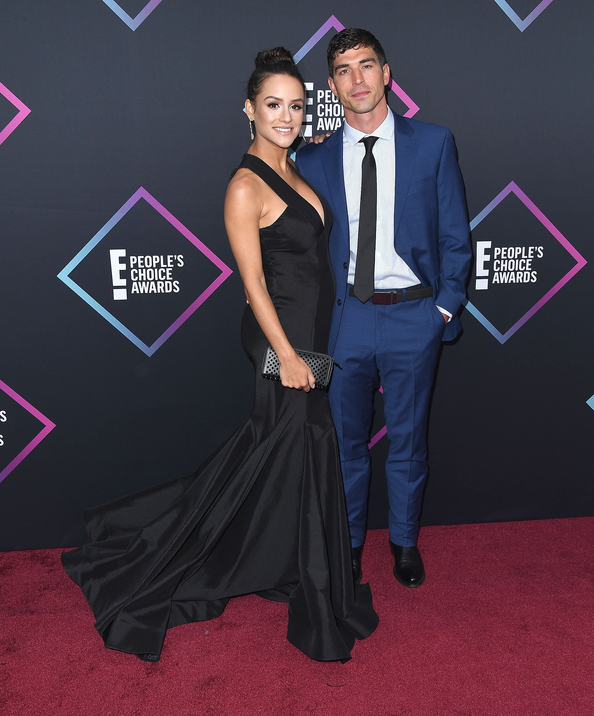 Cody Nickson, Jessica Graf arrives at the People's Choice Awards 2018 at Barker Hangar on November 11, 2018 | Photo: Getty Images