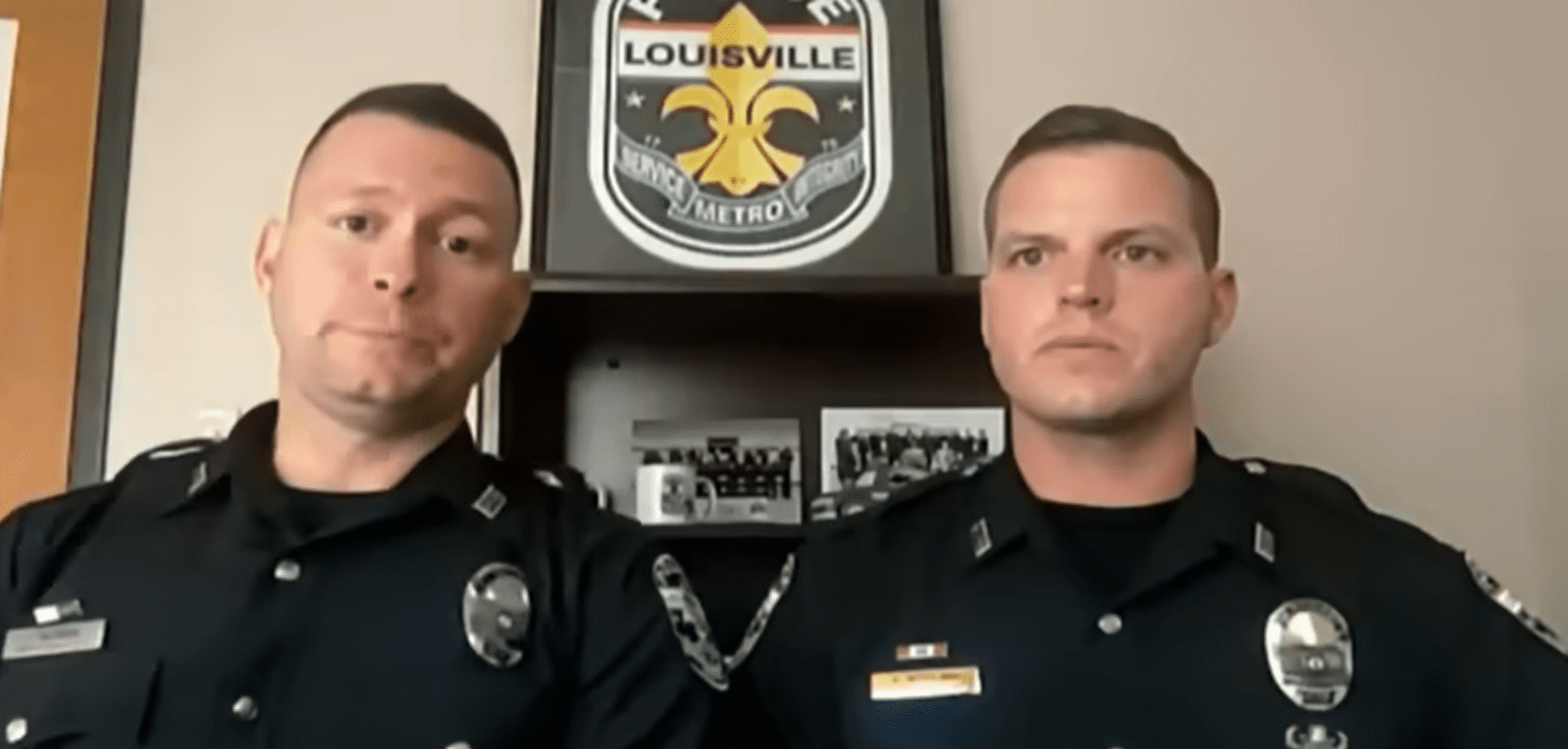 Louisville, Kentucky police officers talking about the abduction and rescue of a 6-year-old girl. │youtube.com/Inside Edition