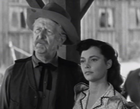 """Stanley Andrews & Margaret Field in the TV series """"The Range Rider."""" 