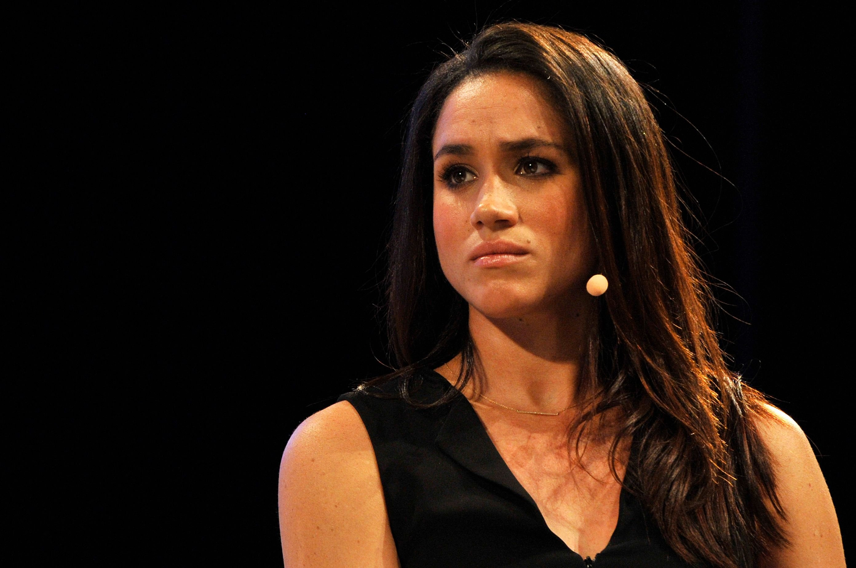 """Meghan Markle at the """"Bridging the Gender Gap"""" special session at the Convention Centre on October 17, 2014, in Dublin, Ireland   Photo: Clodagh Kilcoyne/Getty Images"""
