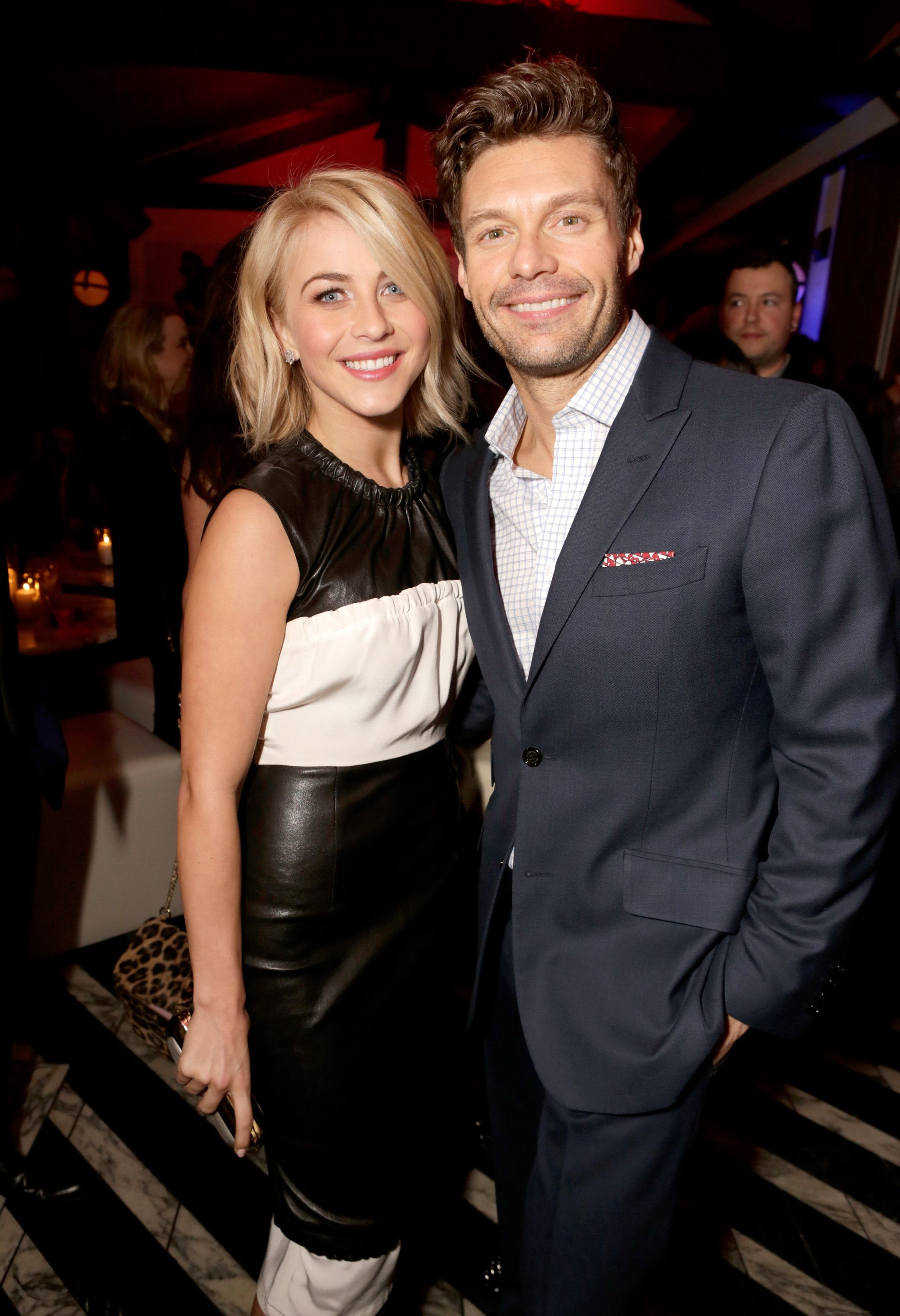 TV personalities Julianne Hough and Ryan Seacrest at the Topshop Topman LA Opening Party at Cecconi's West Hollywood on February 13, 2013 | Photo: Getty Images