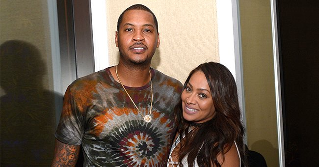 Carmelo Anthony's Wife La La's Patterned Black Dress Hugs Her Curves in New Pics