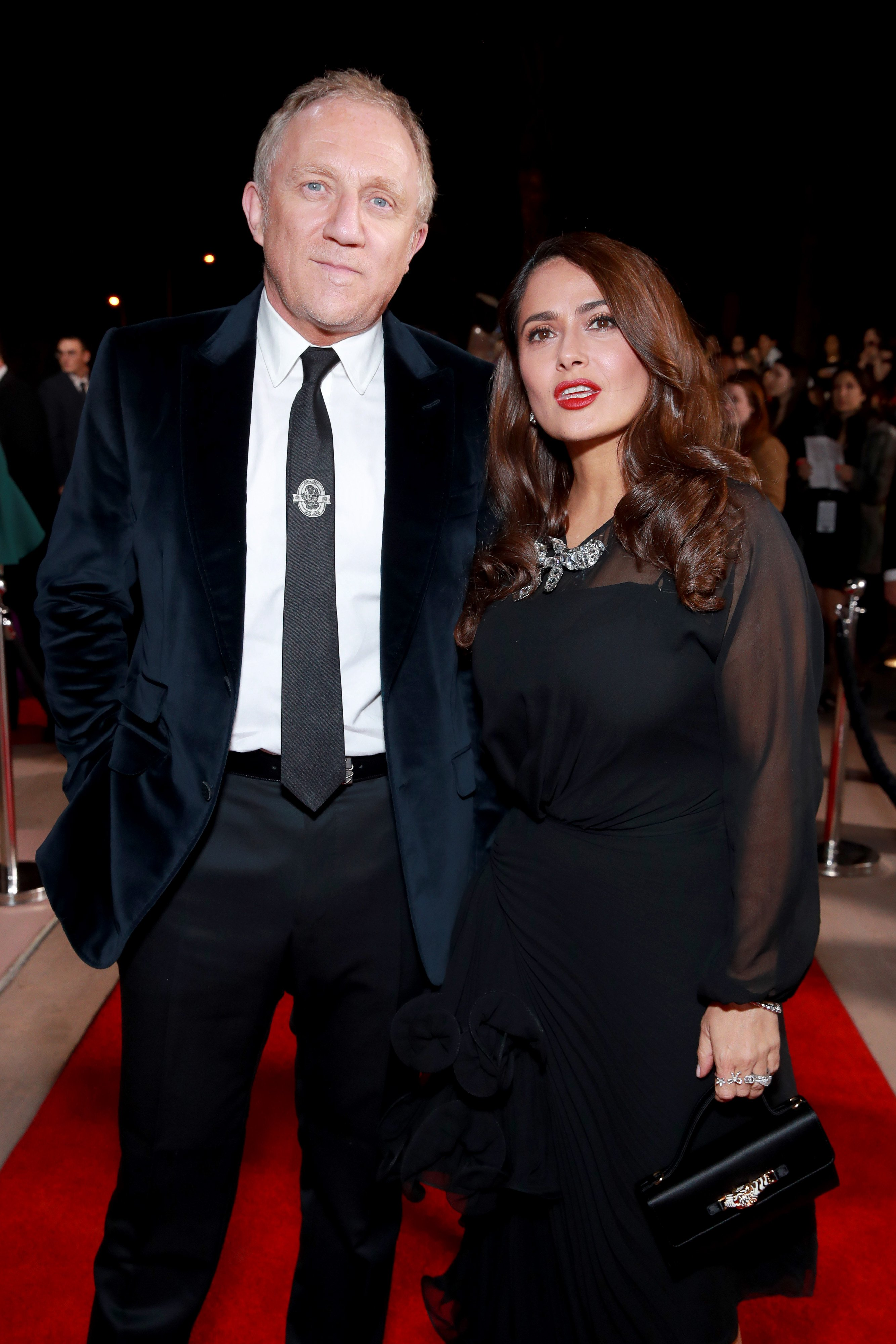 François-Henri Pinault and Salma Hayek attend the 31st Annual Palm Springs International Film Festival Film Awards Gala on January 02, 2020, in Palm Springs, California. | Source: Getty Images.