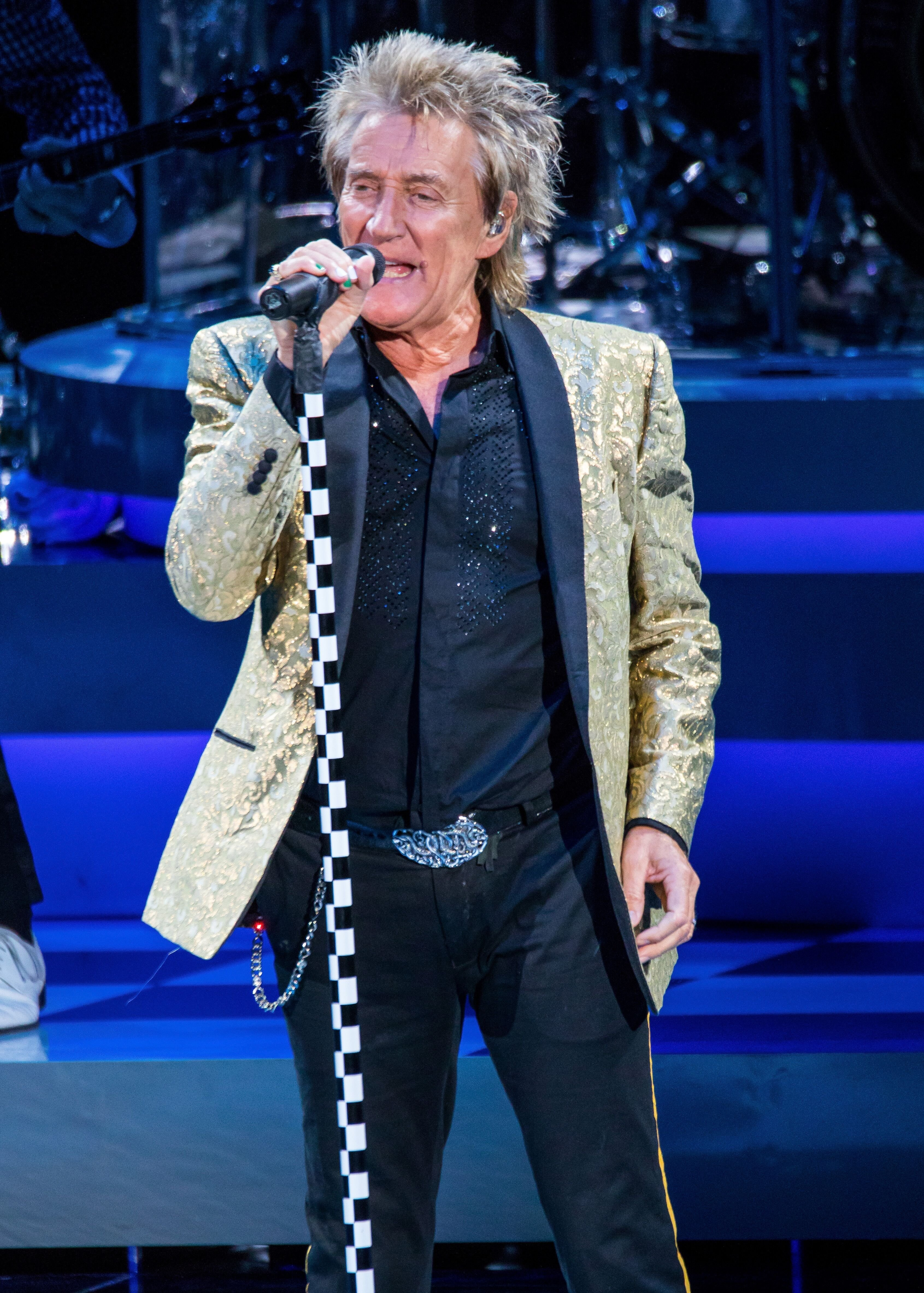 Rod Stewart at DTE Energy Music Theater in 2017 in Clarkston, Michigan   Source: Getty Images