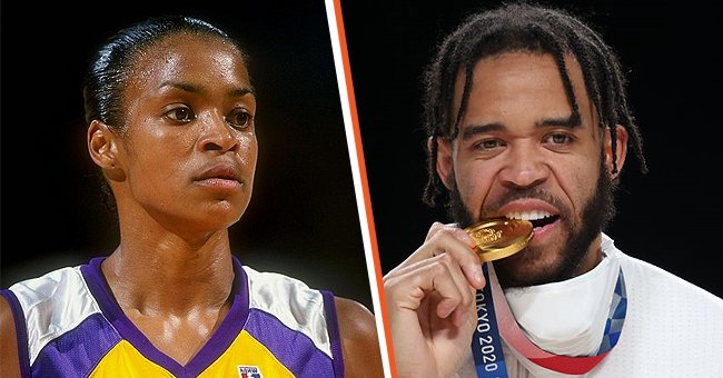Former WNBA star Pamela McGee and her son Javale McGee.   Photo: Getty Images