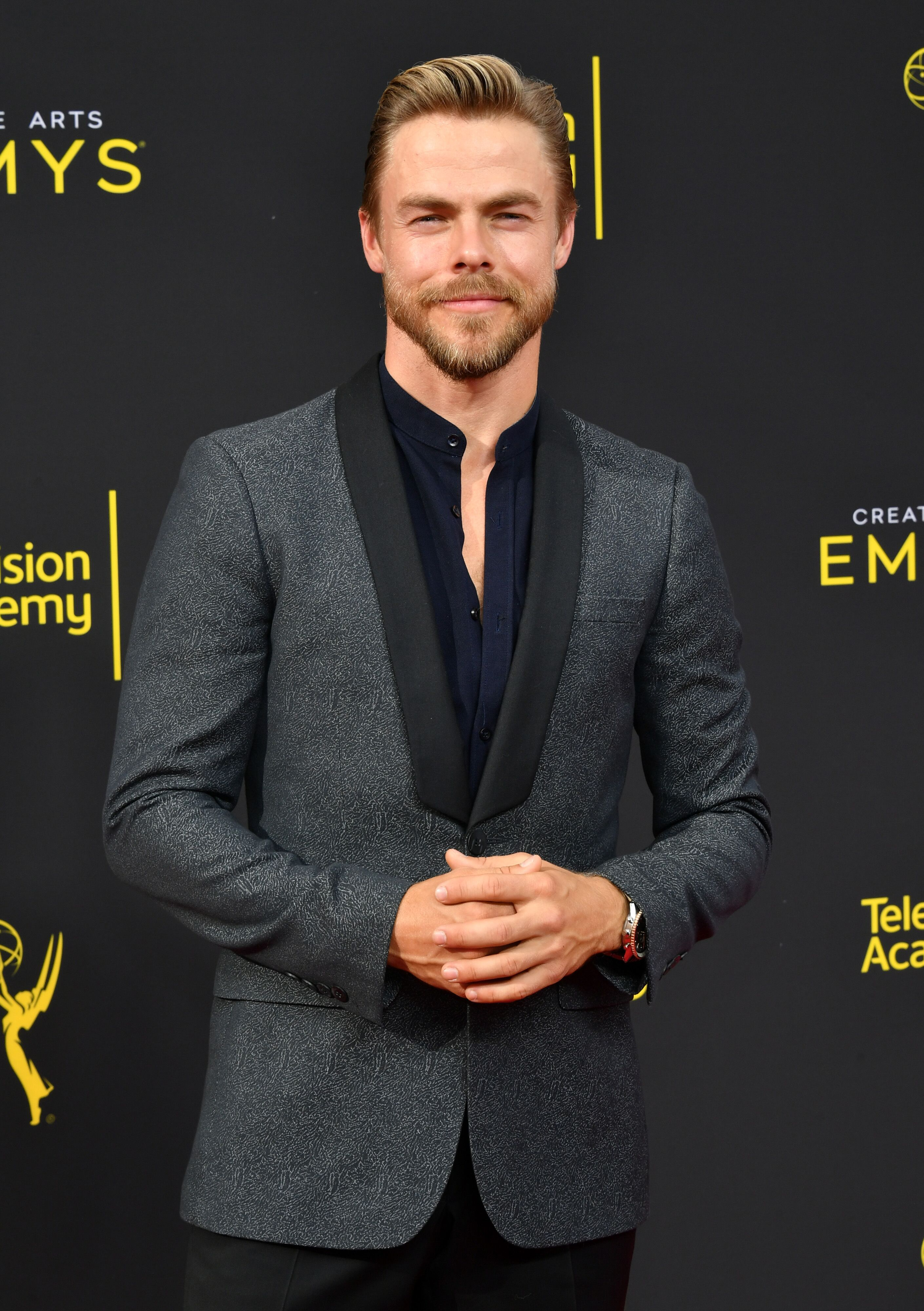 Derek Hough at the Creative Arts Emmy Awards on September 14, 2019, in Los Angeles, California | Photo: Amy Sussman/Getty Images