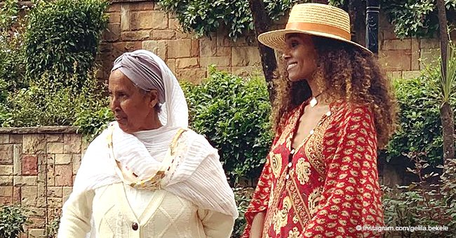 Tyler Perry's longtime partner turned heads in flowy dress in photo with grandma while in Ethiopia