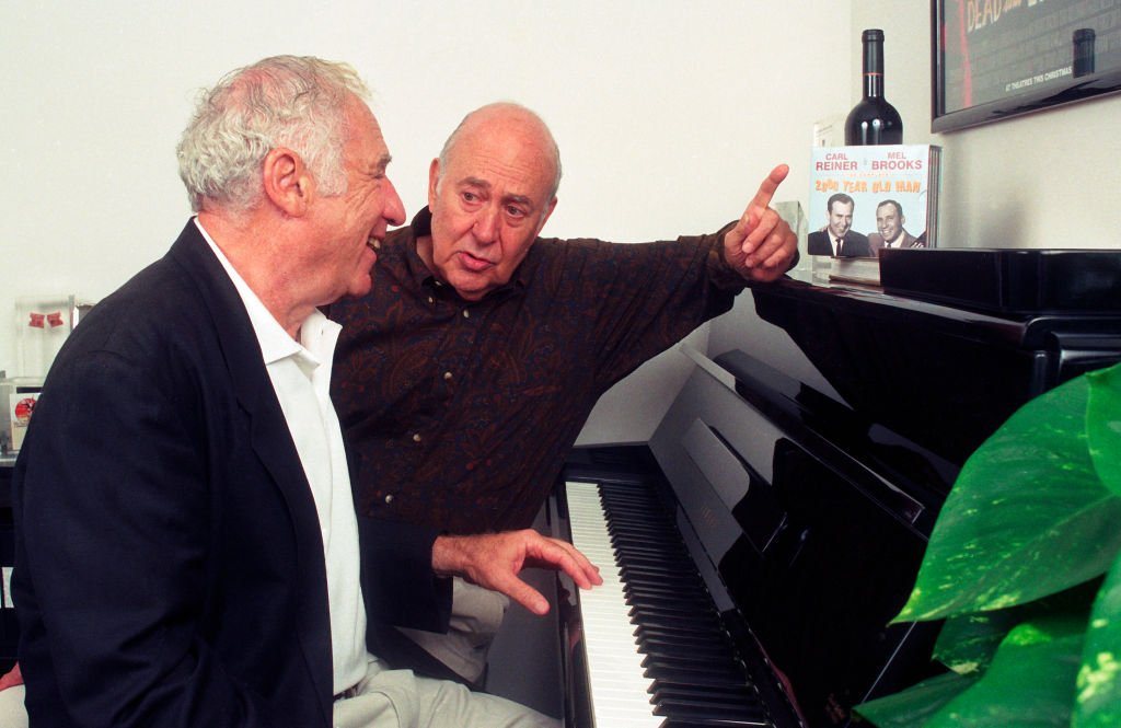 Mel Brooks and Carl Reiner at Culver Studios, September 17, 1997| Photo: Getty Images
