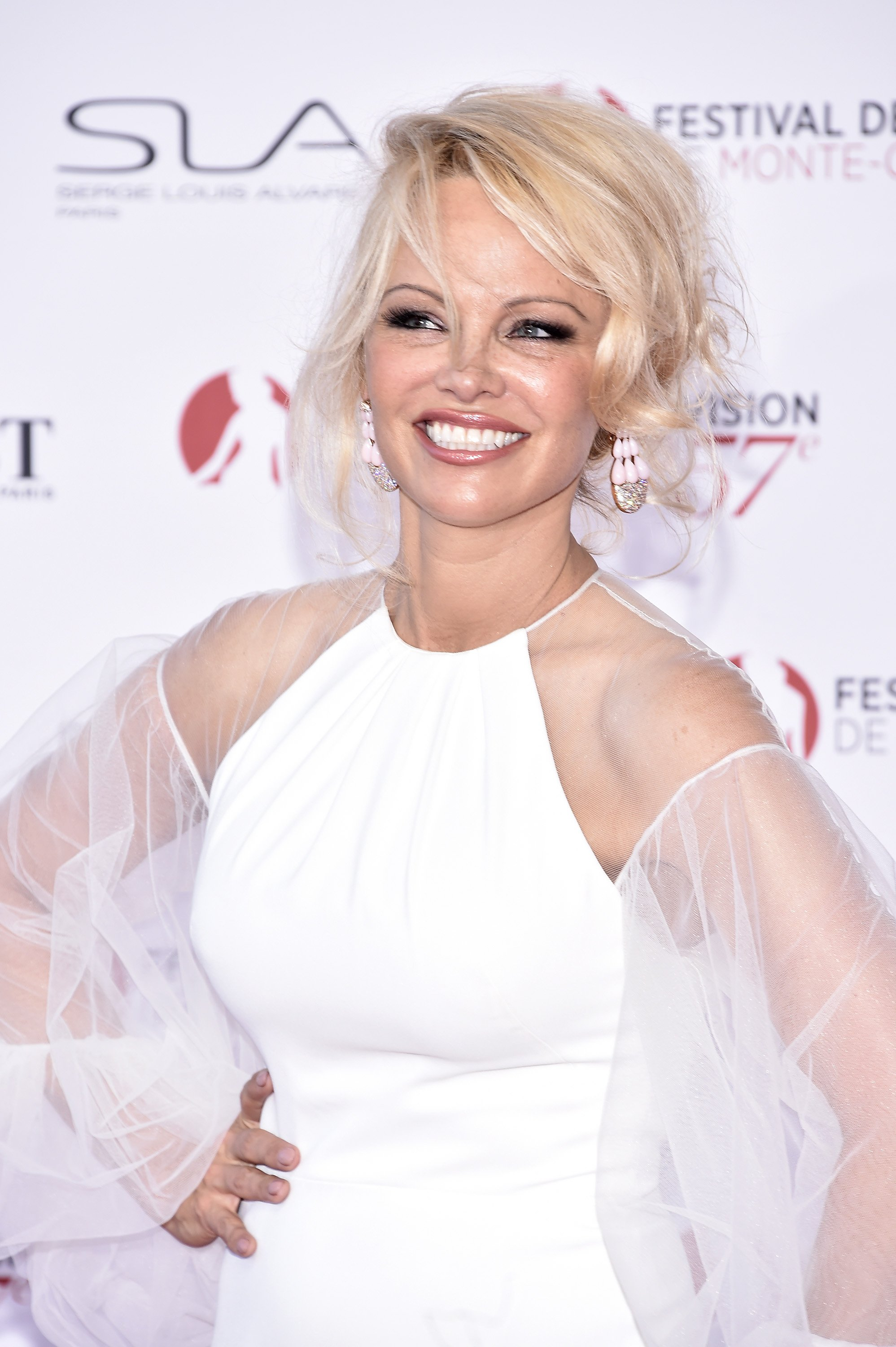 Pamela Anderson attends the 57th Monte Carlo TV Festival Opening Ceremony on June 16, 2017 in Monte-Carlo, Monaco | Photo: Getty Images