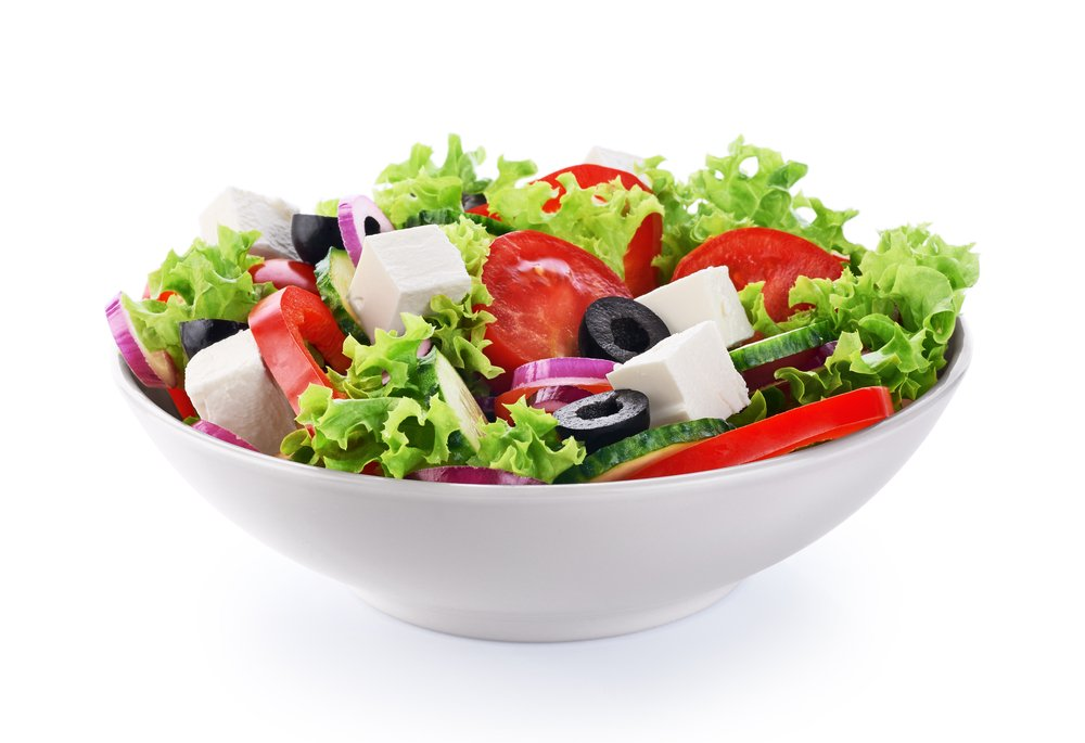 A bowl of salad with cheese and fresh vegetable.   Photo: Shutterstock