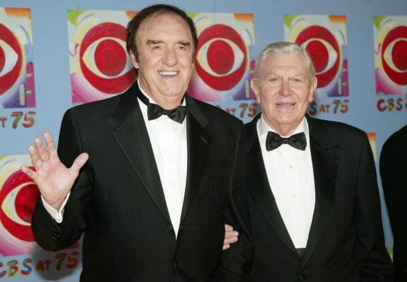 Jim Nabors and Andy Griffith at the Hammerstein Ballroom November 02, 2003 in New York City. | Photo: Getty Images