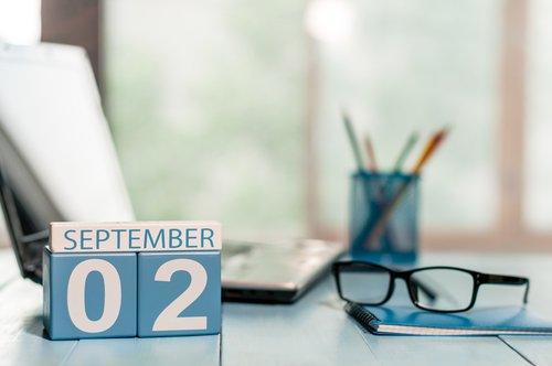 Día 2 del mes de septiembre marcado en el calendario. | Fuente: Shutterstock