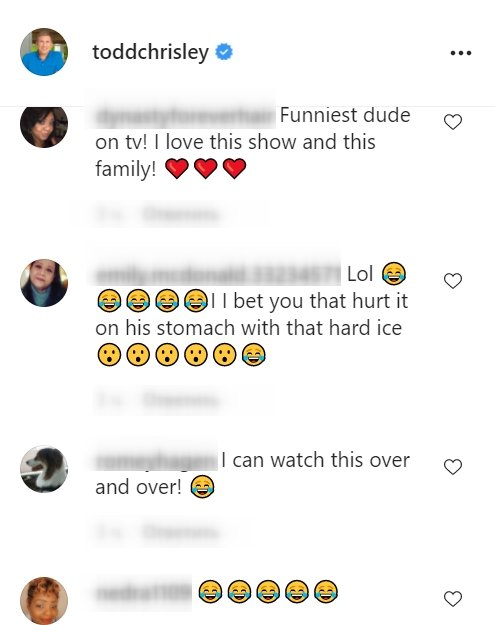 A screenshot of fans' comments on Todd Chrisley's Instagram post   Photo: Instagram/toddchrisley