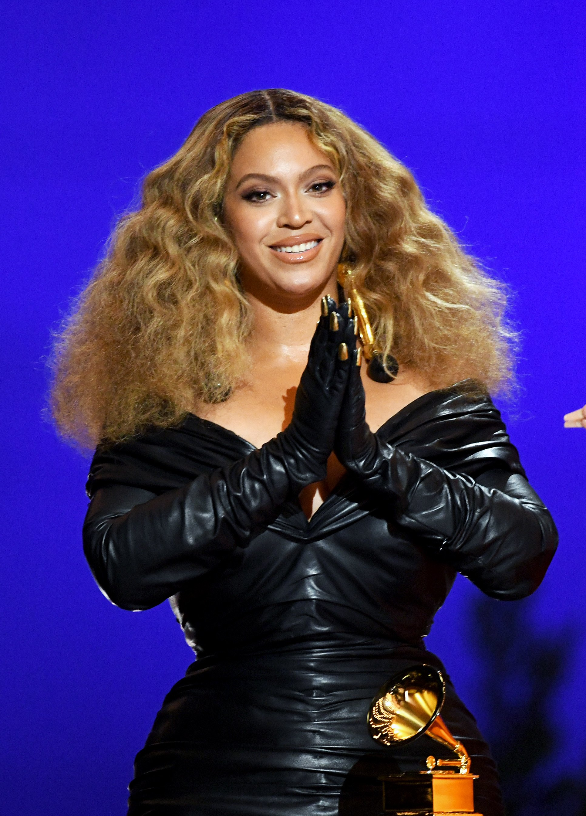 Beyoncé accepts an award at the 63rd Annual Grammy Awards on March 14, 2021 in Los Angeles, California. | Source: Getty Images