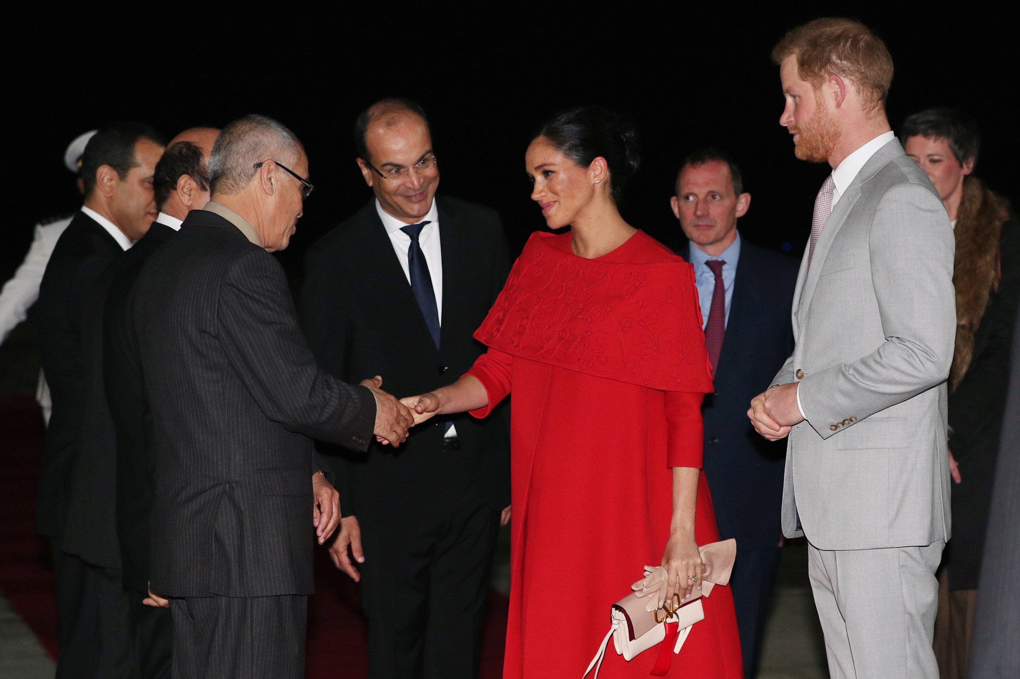 Meghan Markle et le Prince Harry arrivent au Maroc en février 2019 | Photo : Getty Images