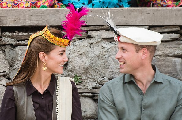 Prince William, and the Duchess of Cambridge at a settlement of the Kalash people on October 16, 2019 | Photo: Getty Images