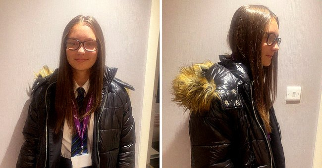 Student kicked out of classes for wearing a coat with fur.   Photo: twitter.com/DarrenBurkeSYN