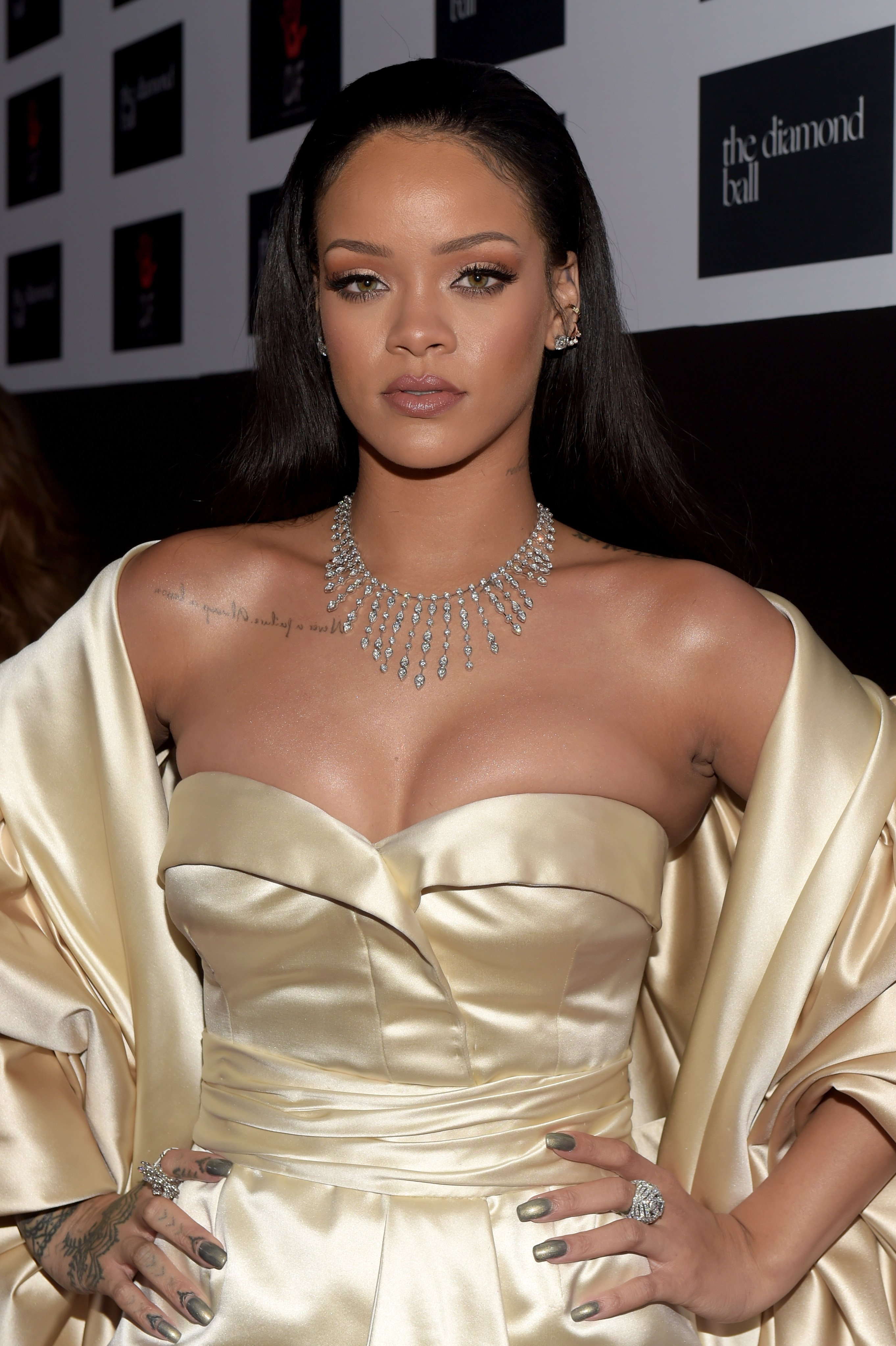 Rihanna at the 2nd Annual Diamond Ball on Dec. 10, 2015 in Santa Monica, California. |Photo: Getty Images