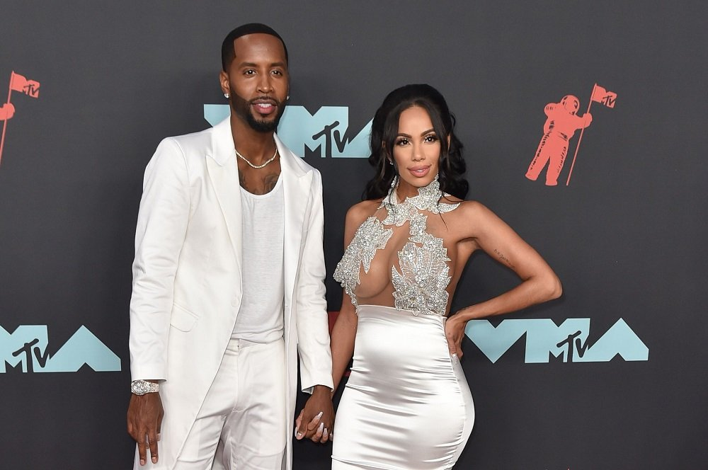 Safaree Samuels and Erica Mena attending the 2019 MTV Video Music Awards red carpet at Prudential Center in Newark, New Jersey in August 2019.   Image: Getty Images.