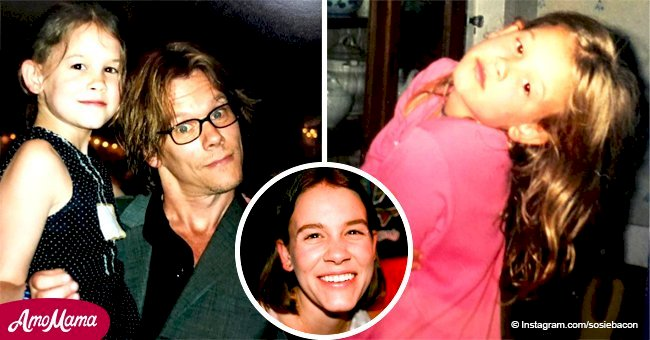 Kevin Bacon's daughter is all grown up and she's trying to follow in her dad's footsteps