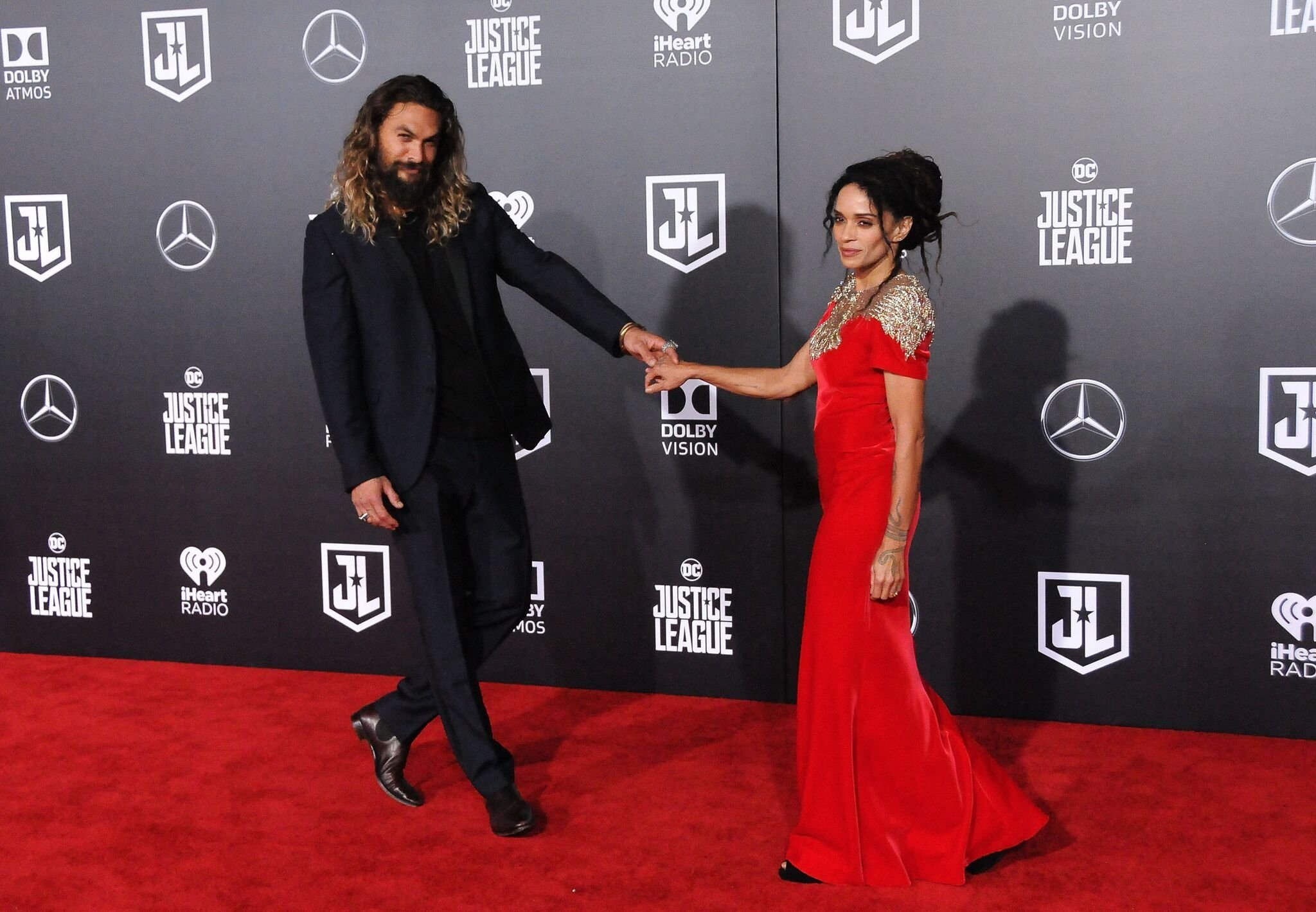 Actor Jason Momoa and actress Lisa Bonet attend the premiere of Warner Bros. Pictures' 'Justice League'  | Getty Images