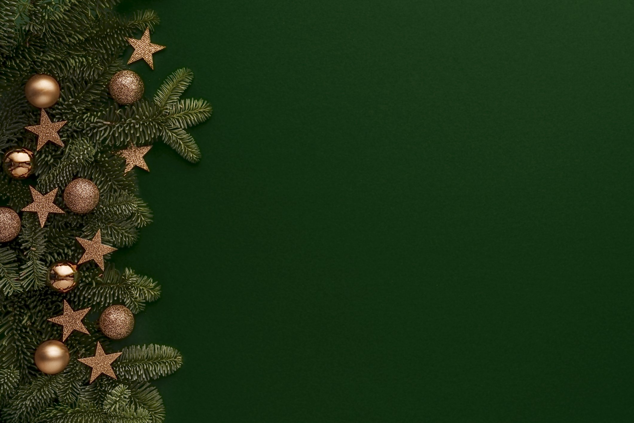 Photo of a fir tree on a Christmas background. | Photo: Getty Images