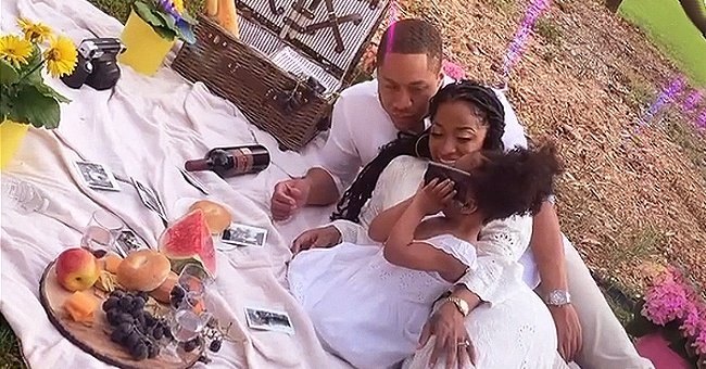 Toya Johnson & Red Rushing Wear Matching White Outfits during Family Picnic with Daughter Reign