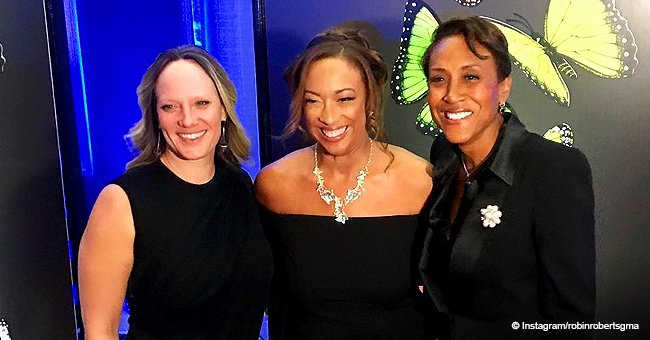 Robin Roberts Melts Hearts in Pic with Partner Amber Who's Rocking Figure-Hugging Black Dress