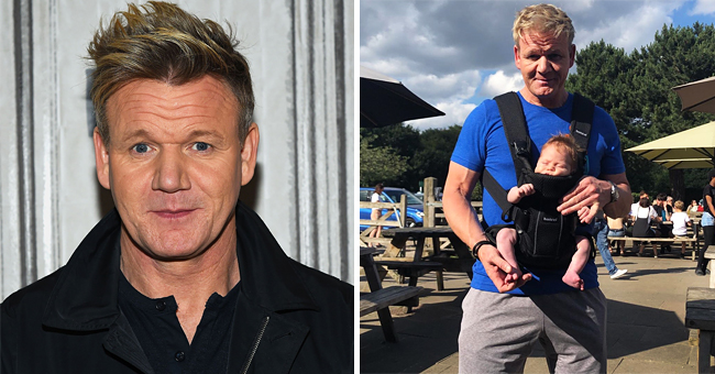 Some Fans Criticize Gordon Ramsay after Seeing a Photo of Him Carrying Three-Month-Old Oscar