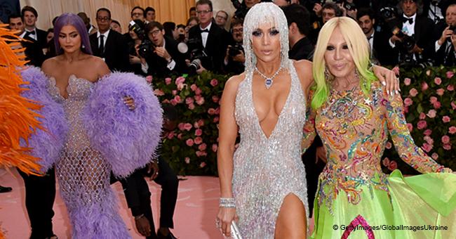Kylie Jenner Spotted on Camera Glancing at Jennifer Lopez's Back during Met Gala