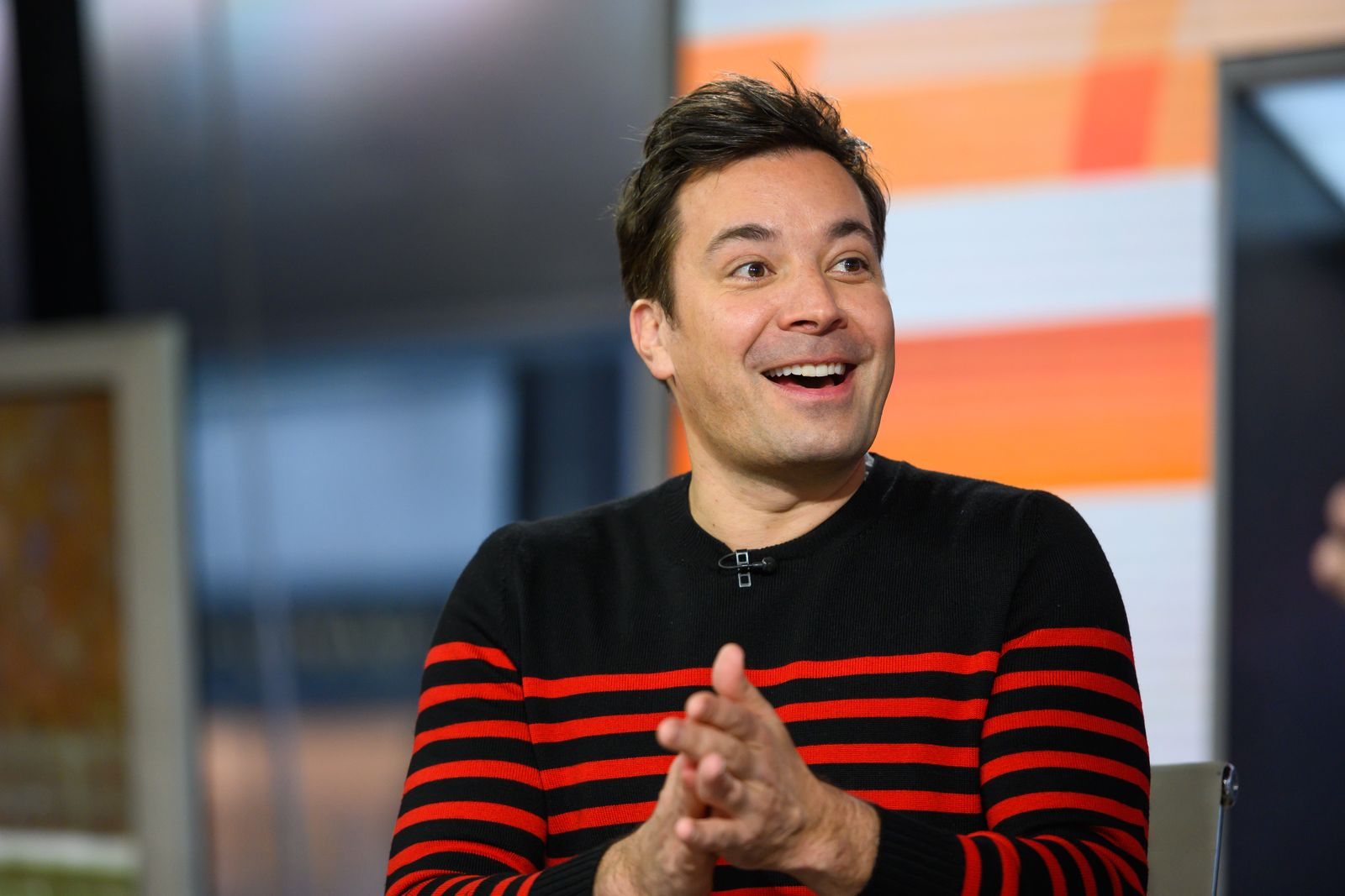 "Jimmy Fallon at ""The Tonight Show"" studio on January 28, 2020 