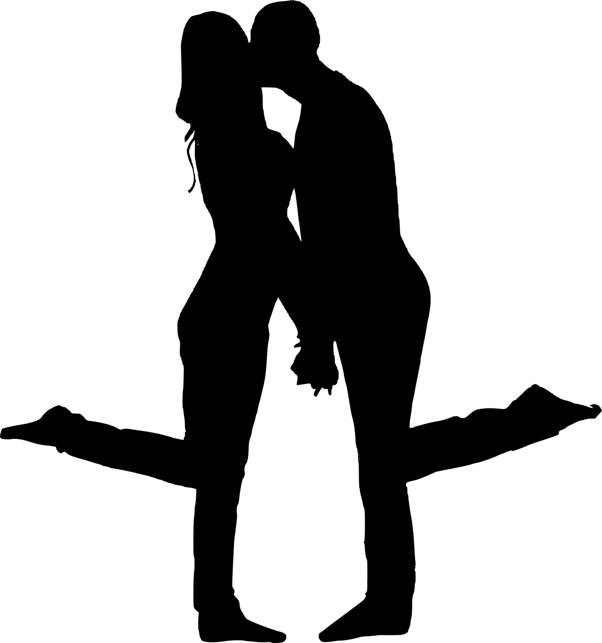 A silhouette of a happy couple | Source: Pixabay