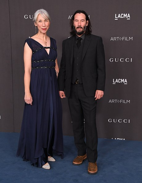 Keanu Reeves and Alexandra Grant at the 2019 LACMA Art + Film Gala on November 2, 2019  | Photo: Getty Images