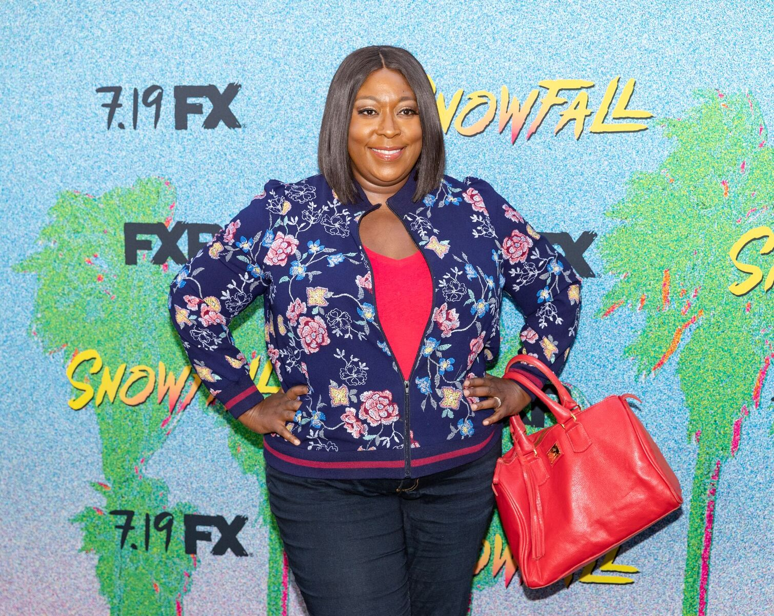 "Loni Love arrives to the premiere of FX's ""Snowfall"" Season 2 at Regal Cinemas L.A. LIVE Stadium 14 on July 16, 2018 