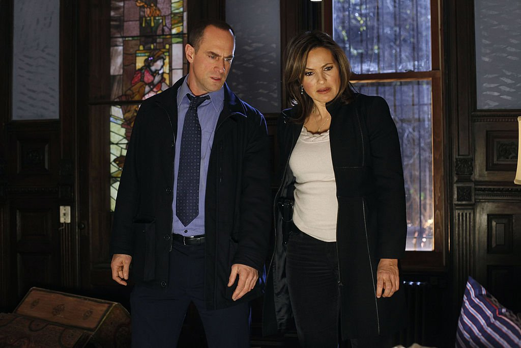 "Mariska Hargitay as Detective Olivia Benson, Christopher Meloni as Detective Elliot Stabler on ""Law & Order: SVU"" December 07, 2010 