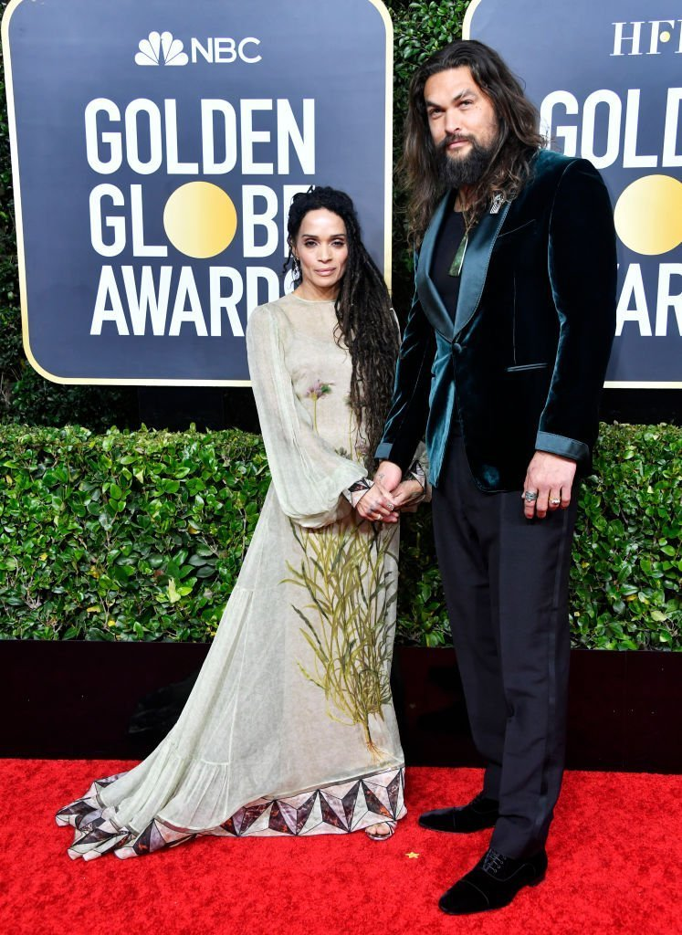 Coordinately dressed couple, Lisa Bonet and Jason Momoa at the 77th Annual Golden Globe Awards on January 5, 2020. | Photo: Getty Images