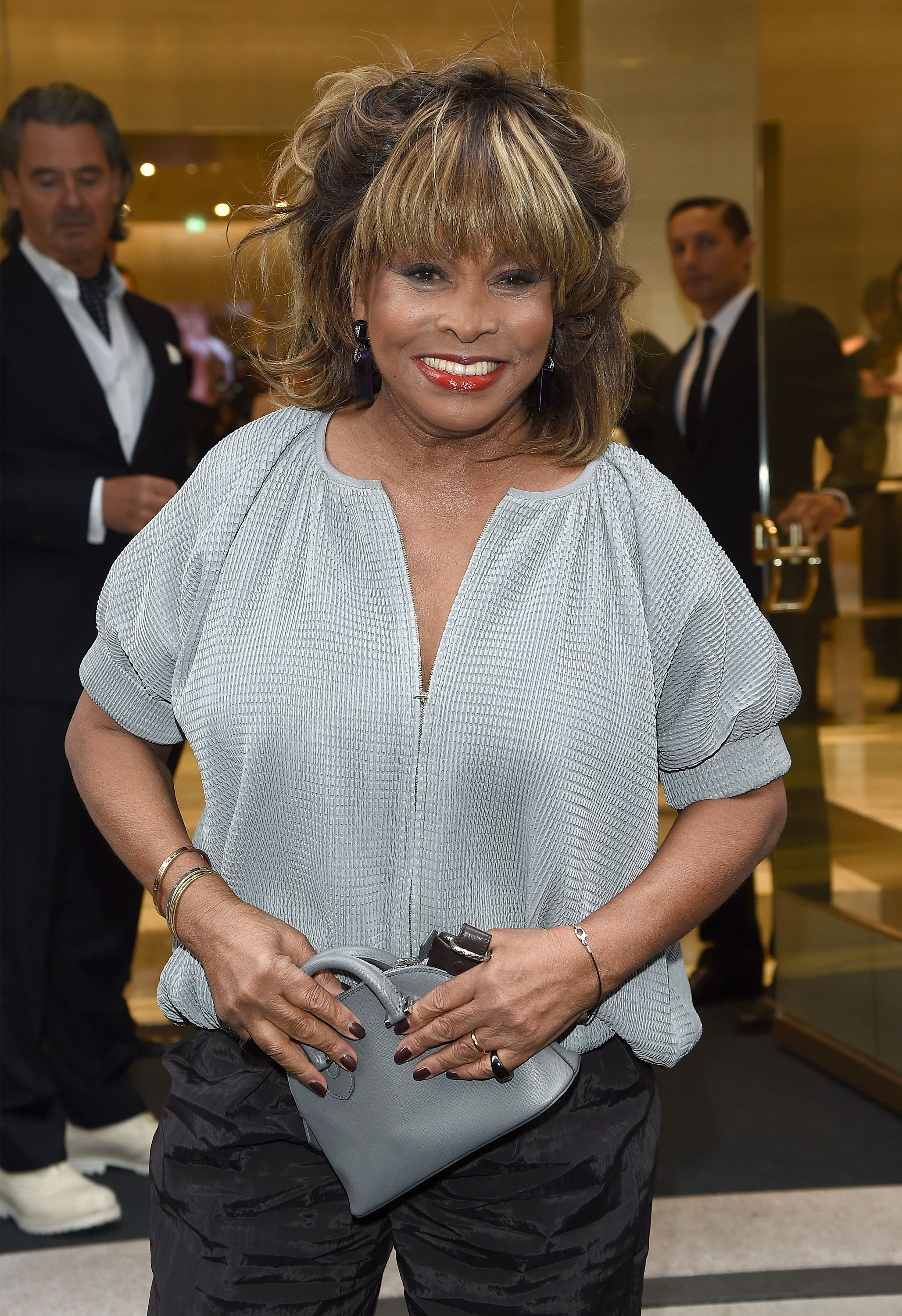 Tina Turner at the Giorgio Armani 40th Anniversary Boutique Cocktail Reception on April 29, 2015 in Milan, Italy.   Photo: Getty Images