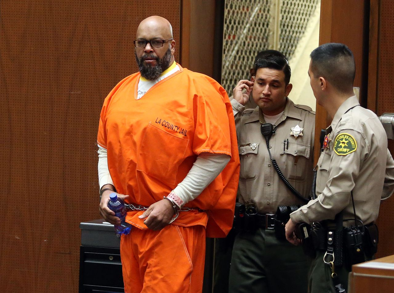 """Marion """"Suge"""" Knight appears in Los Angeles court for a pretrial hearing at the Clara Shortridge Foltz Criminal Justice Center on January 21, 2016 in Los Angeles, California.   Source: Getty Images"""