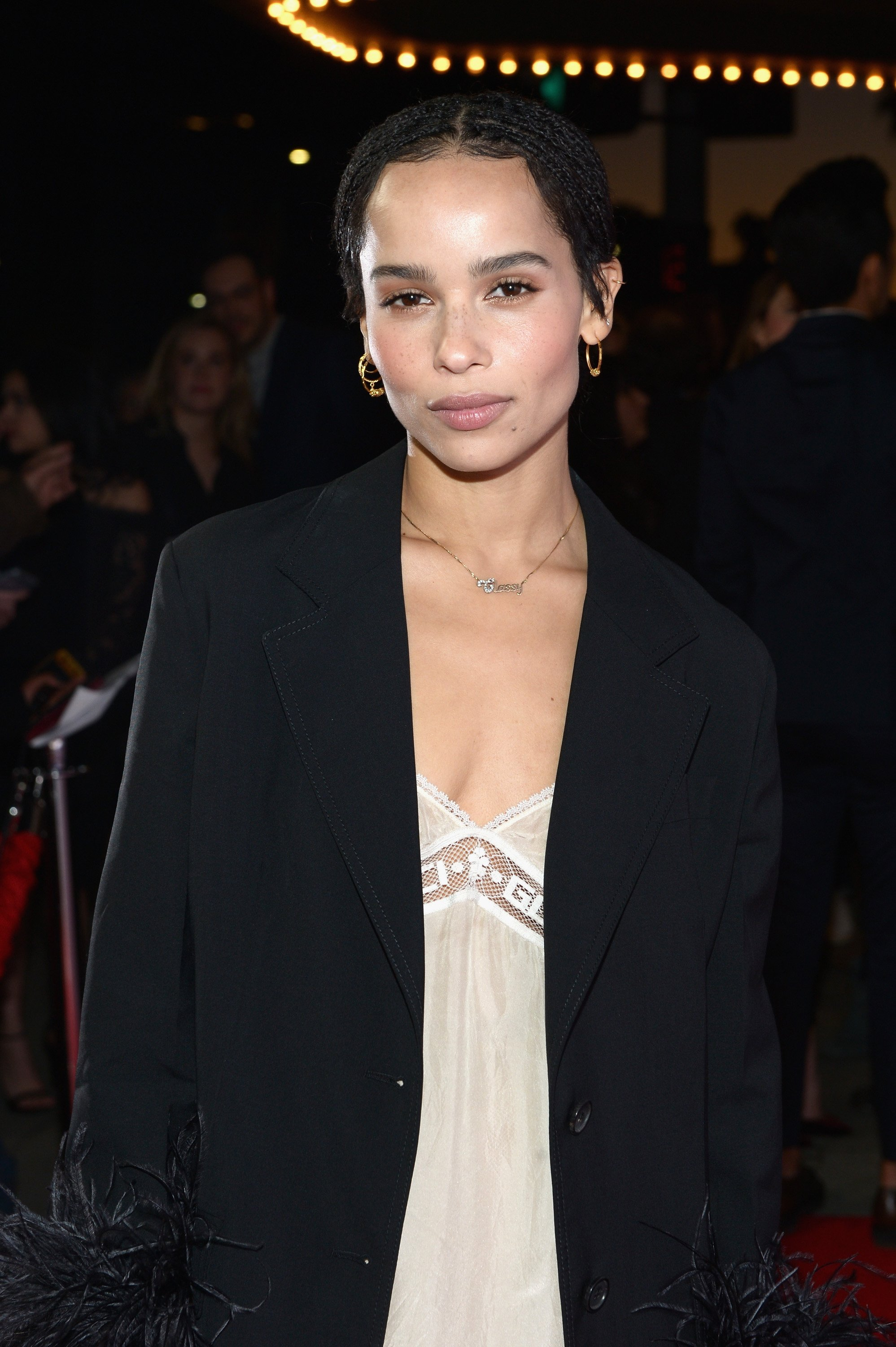 "Zoe Kravitz attends the Los Angeles premiere of Neon's ""Gemini."" 