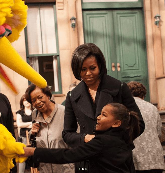 The Obamas on Sesame Street/ Source: Instagram/ Michelle Obama