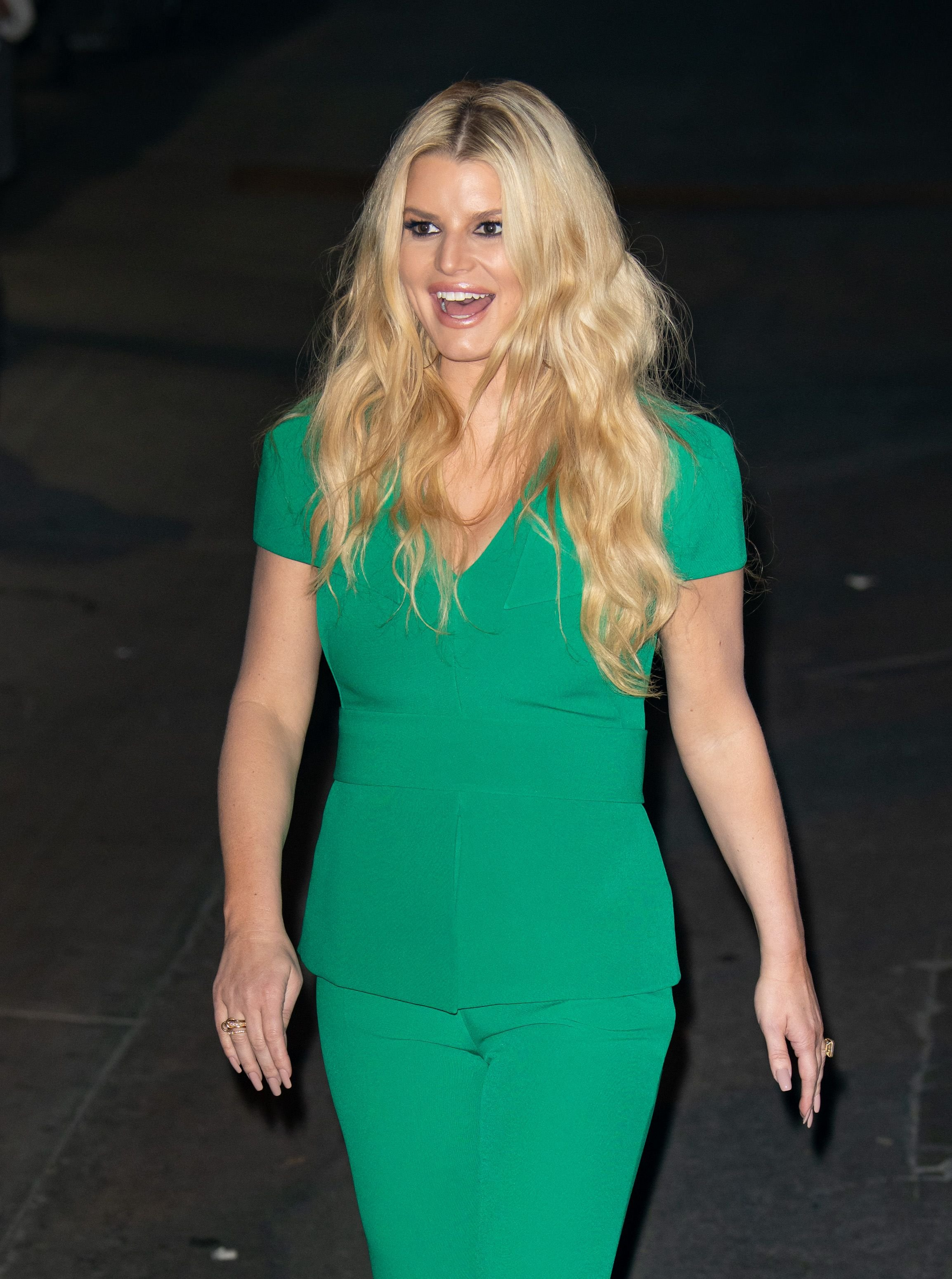 """Jessica Simpson at """"Jimmy Kimmel Live"""" on January 29, 2020   Photo: Getty Images"""