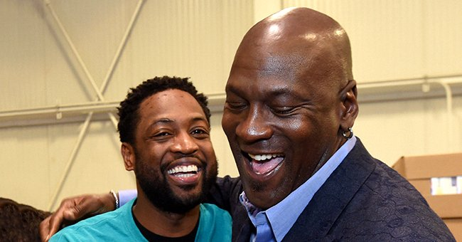 Dwyane Wade and Michael Jordan at the 2019 NBA Cares All-Star Day of Service on February 15, 2019 | Photo: Getty Images